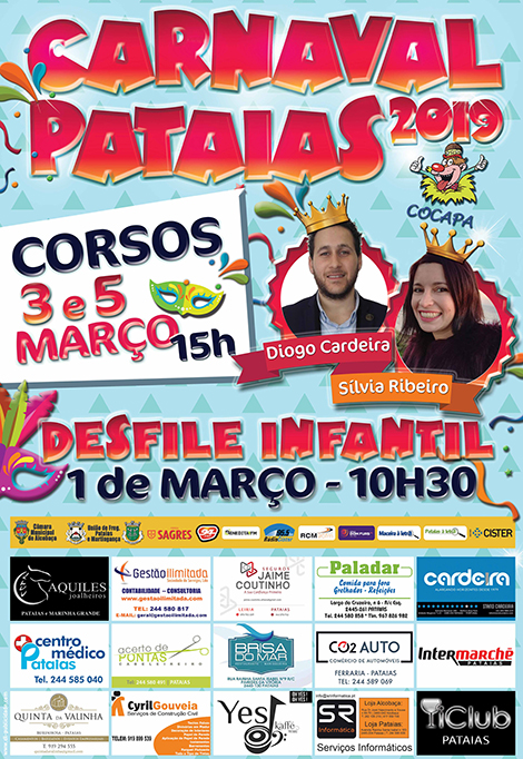 Cartaz do Carnaval de Pataias de 2019