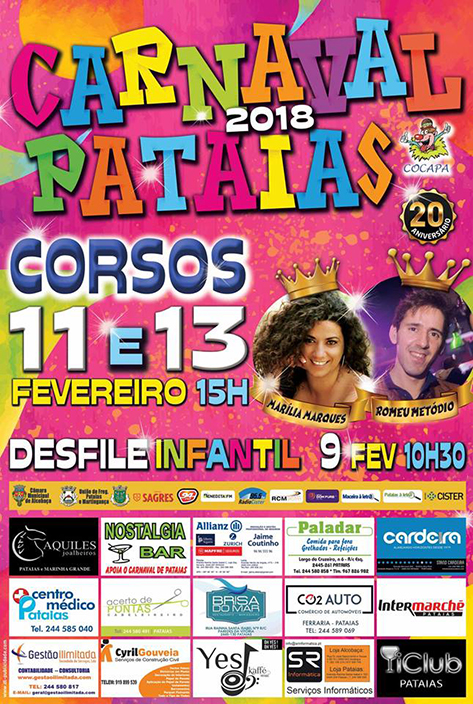 Cartaz do Carnaval de Pataias de 2015